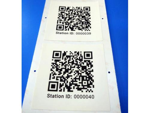 QR CODE + SERIAL NUMBER STICKER