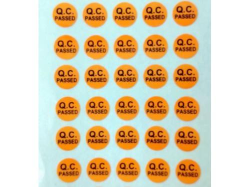 QC pass貼紙